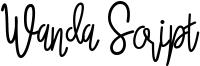 Wanda Script Font