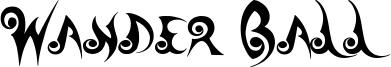 Wander Ball Font