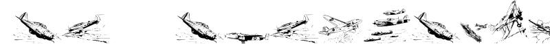 War II Wairplanes Font