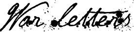 War letters Font