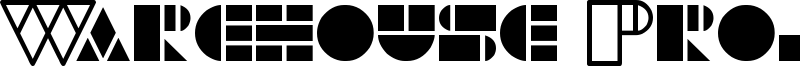 Warehouse Project Font