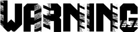 Warning Font