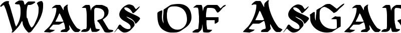 Wars of Asgard Font