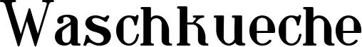 Waschkueche Font