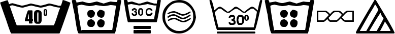 Wash Care Font