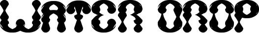 Water Drop Font