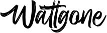 Wattgone Font