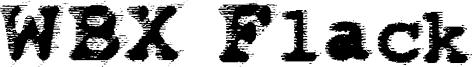 WBX Flack Font