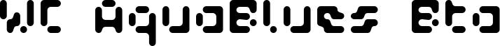WC AquaBlues Bta Font