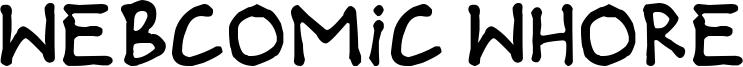 Webcomic Whore Font