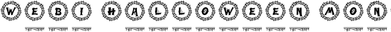 Webi Halloween Monogram Font