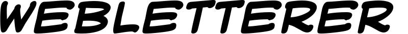 WebLetterer BB Font