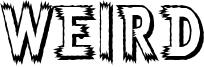 Weird Font