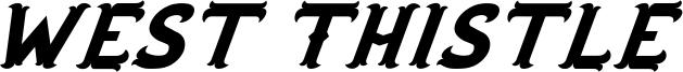 West Thistle Font