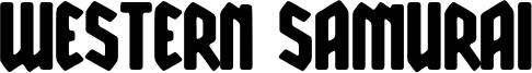 Western Samurai Font