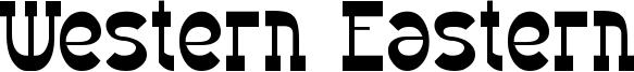 Western Eastern Font