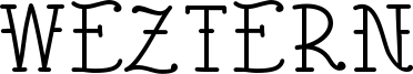 Weztern Font