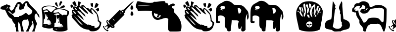 Whatsapp emoticons Font