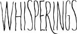 Whisperings Font