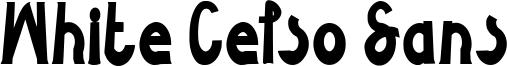 White Celso Sans Font