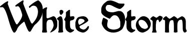 White Storm Font