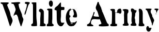 White Army Font