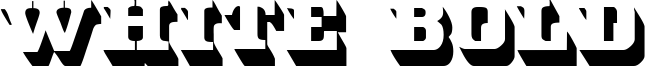 White Bold Font