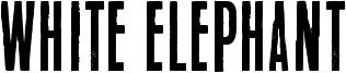 White Elephant Font