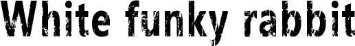 White funky rabbit Font
