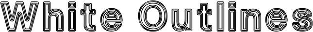 White Outlines Font