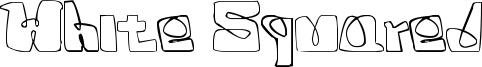 White Squared Font