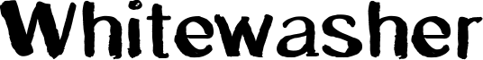 Whitewasher Font