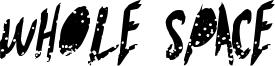Whole Space Font