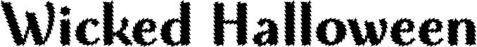 Wicked Halloween Font