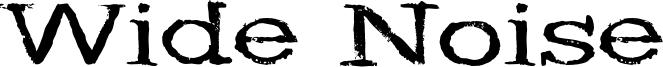 Wide Noise Font