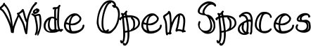 Wide Open Spaces Font