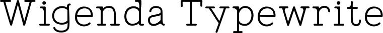 Wigenda Typewrite Font