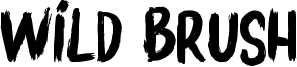 Wild Brush Font