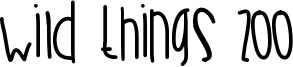 Wild Things Zoo Font