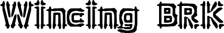 Wincing BRK Font