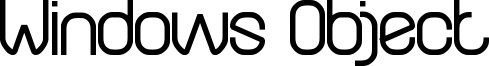 Windows Object Font