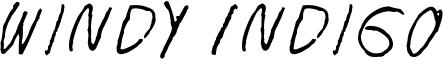 Windy Indigo Font