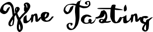 Wine Tasting Font