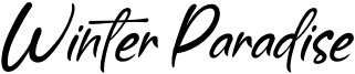 Winter Paradise Font