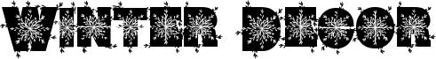 Winter Decor Font
