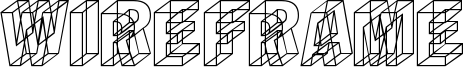Wireframe Font
