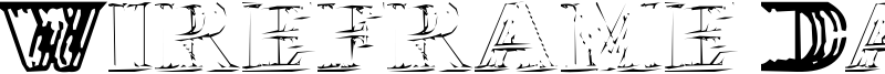 Wireframe Davenport Font