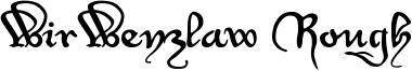 WirWenzlaw Rough Font