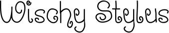 Wischy Stylus Font