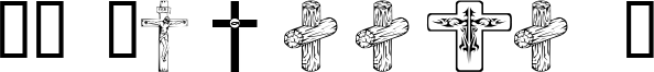 WM Crosses 1 Font